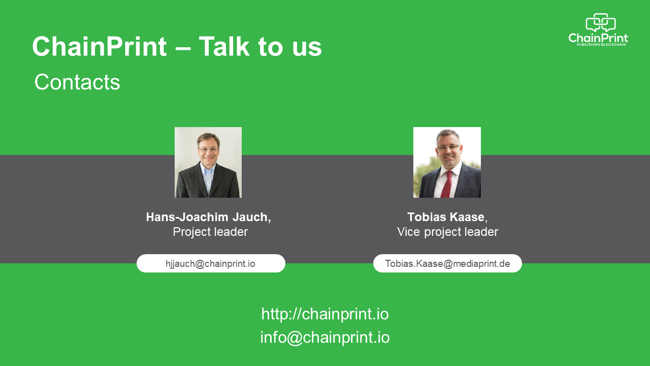 ChainPrint - Talk to us: Contacts