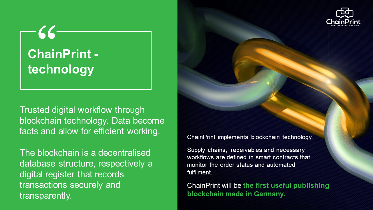 ChainPrint implements blockchain technology.